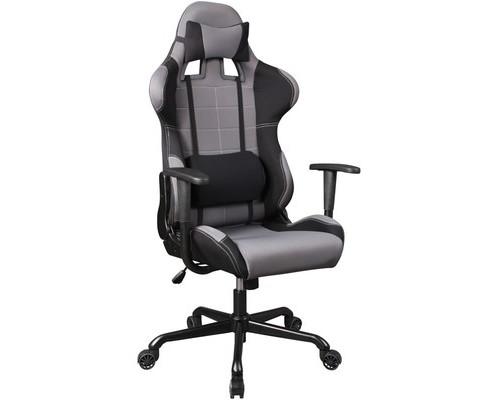 Кресло игровое Бюрократ 771 серое ткань/пластик/металл - (377950К)