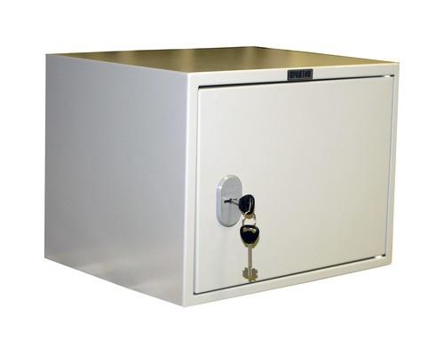 Шкаф бухгалтерский металлический Практик SL-32T трейзер ключевой замок 420x350x320 мм - (425744К)