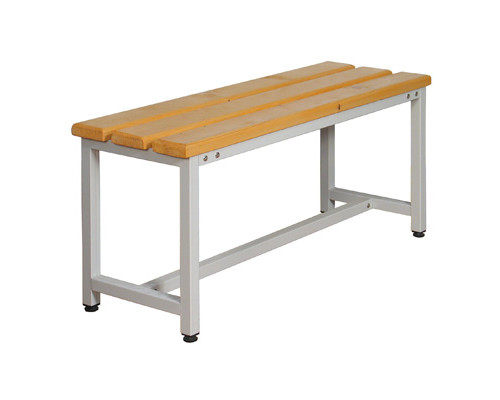 Скамья деревянная СК-1-1500 на металлокаркасе сосна 1500х350х480 мм - (218378К)