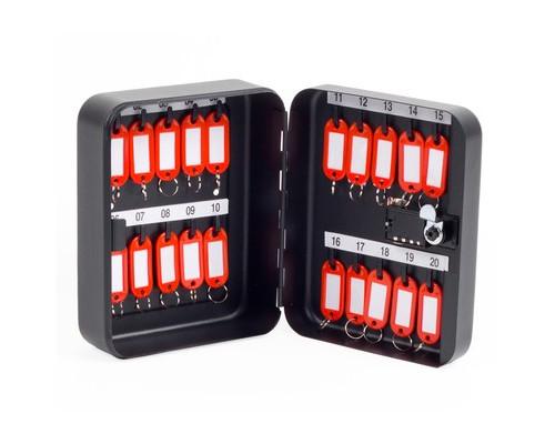 Шкаф для ключей Office-Force 20090 черный на 20 ключей металлический - (678832К)
