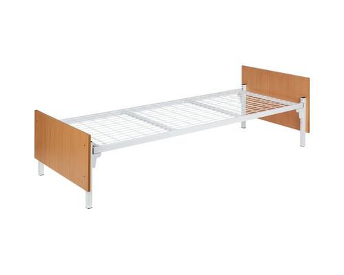 Кровать односпальная Бытовая К.191.57 белая/бук 2038х840х700 мм - (492828К)