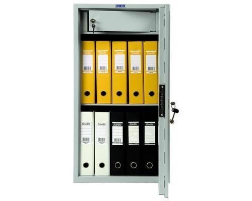 Шкаф бухгалтерский металлический Практик SL-87T трейзер ключевой замок 460x340x870 мм - (98552К)