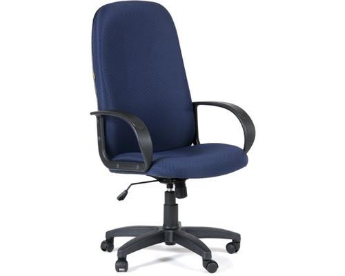Кресло для руководителя Chairman 279 синее ткань/пластик - (232840К)