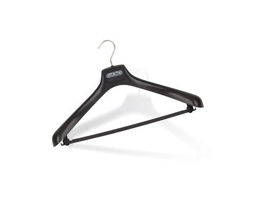 Вешалка-плечики пластмассовая Attache с перекладиной черная размер 52-54 - (49914К)