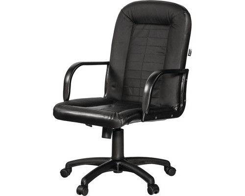 Кресло для руководителя Easy Chair Mustang черное экокожа/пластик - (350367К)