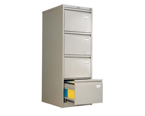 Шкаф картотечный металлический Практик AFC-04 для документов А4 4 отделения, 467x630x1330 мм - (31573К)
