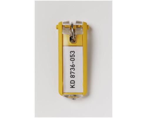 Набор брелков на ключи Durable Key Clip желтые 6 штук - (195506К)