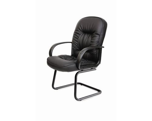 Конференц-кресло Chairman 416 V на полозьях черное экокожа/пластик/металл черный - (124480К)