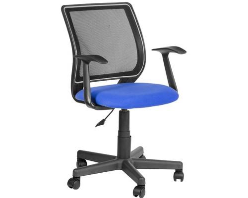 Кресло офисное Эксперт синее/черное ткань/сетка/пластик - (487398К)