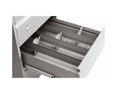 Разделитель поперечный Практик для картотеки AFC-06/4 металл 12 штук - (243396К)