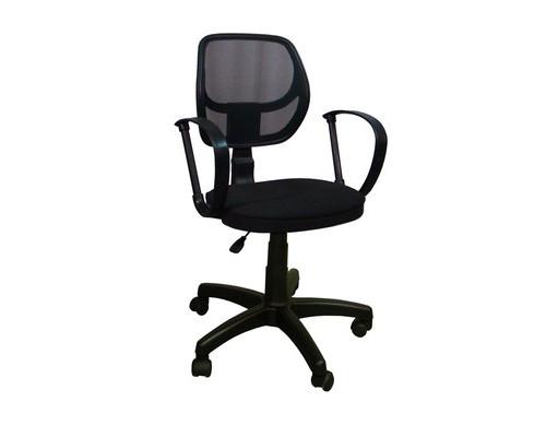 Кресло офисное Сатурн черное ткань/сетка/пластик - (369098К)