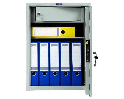 Шкаф бухгалтерский металлический Практик SL-65T трейзер ключевой замок 460x340x630 мм - (98551К)