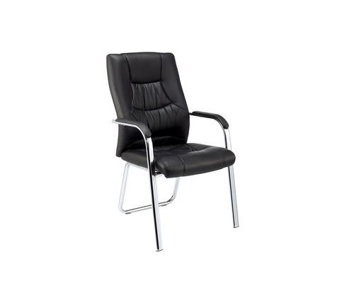 Конференц-кресло Easy Chair 807 VPU черное искусственная кожа/металл хромированный - (478410К)