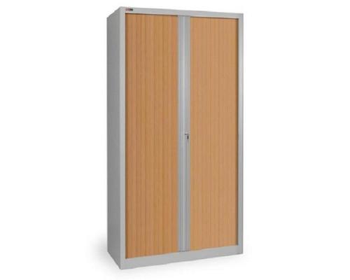 Шкаф тамбурный металлический КД144 металл/пластик под дерево 1000x485x1985 мм - (321556К)