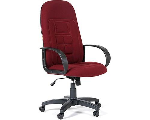 Кресло для руководителя Chairman 727 бордовое ткань/пластик - (232841К)