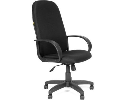 Кресло для руководителя Chairman 279 черное ткань/пластик - (53833К)