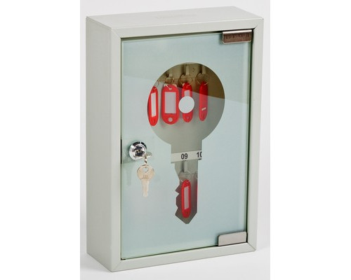 Шкаф для ключей Office-Force 20083 серый на 10 ключей металл/стекло - (409162К)