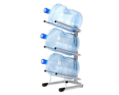 Стеллаж для воды Бридж-3 на 3 тары алюминий 370x450x840 мм - (276303К)