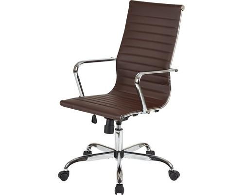 Кресло для руководителя Easy Chair 707 TPU коричневое искусственная кожа/хром - (481273К)