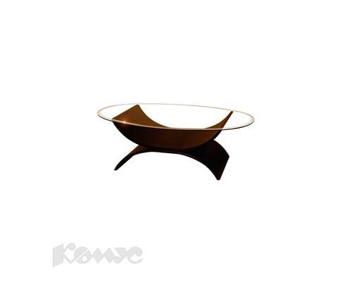 Стол журнальный Колизей-1Н овальный стеклянный венге 1070x670x390 мм - (139935К)