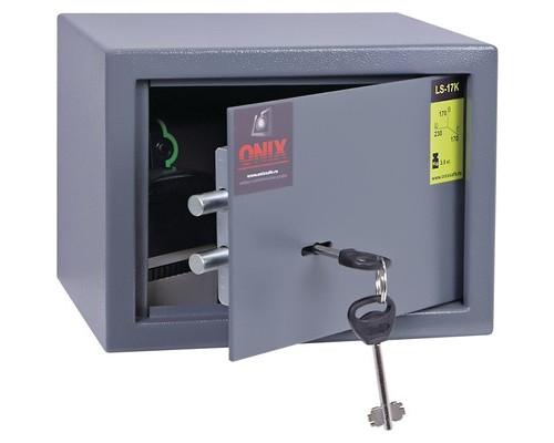 Сейф мебельный Onix LS-17 K черный ключевой замок - (194393К)