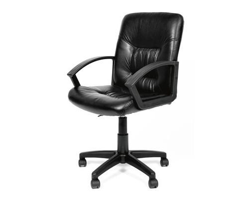 Кресло для руководителя Chairman 651 черное экокожа/пластик - (134049К)