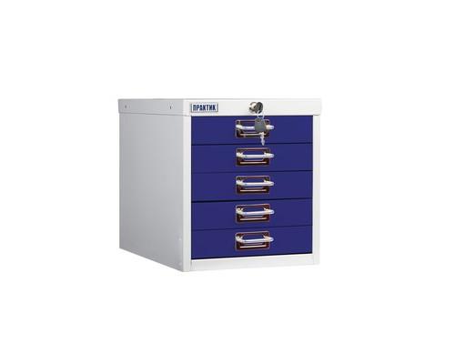 Шкаф Практик MDC-315/5 серый/синий 5 ящиков - (544527К)