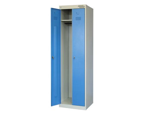 Шкаф для одежды металлический ШРЭК-22-500 синий 2 отделения 530x500x1850 мм - (147547К)