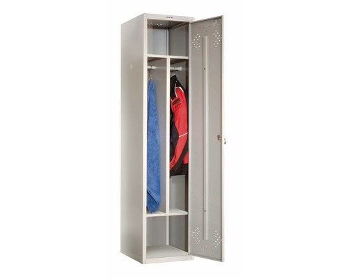 Шкаф для одежды металлический Практик LS-11-40D 1 дверь 418х500х1830 см - (333046К)