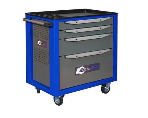 Тележка для инструмента Toolbox TBS-4 серая/синяя 800x468x775 мм - (286263К)
