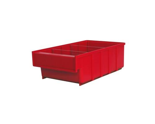 Ящик пластиковый ДиКом серия Б красный 185х300x100 мм - (526282К)