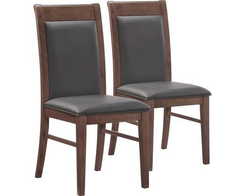 Конференц-стул Easy Chair 424 KR черный рециклированная кожа/темный орех 2 штуки в упаковке - (325297К)