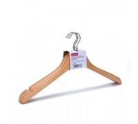 Вешалка-плечики деревянная Attache с выемками светло-коричневая размер 48-50 3 штуки в упаковке - (280395К)