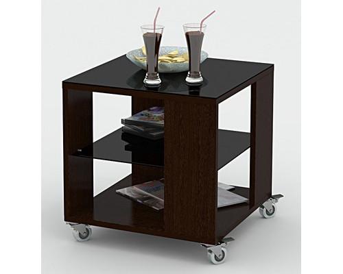 Стол журнальный BeautyStyle 6 венге-стекло черное - (308004К)