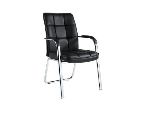 Конференц-кресло Easy Chair 810 VPU черное экокожа/металл хромированный - (620977К)
