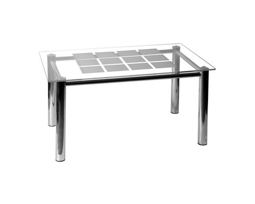 Стол журнальный Гранд 3М стеклянный гальванический хром, 900x550x450 мм - (435611К)