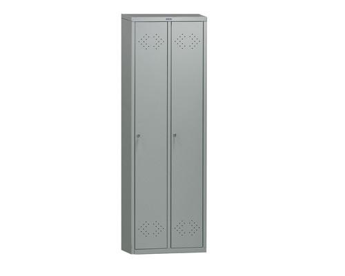 Шкаф для одежды металлический Практик LS-21 2 отделения 575x500x1830 мм - (135817К)