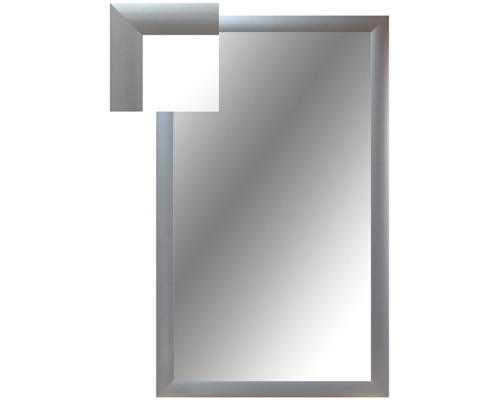 Зеркало настенное Attache 1000x600 мм серебро - (252286К)