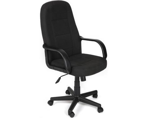 Кресло для руководителя 747 черное ткань/пластик - (124679К)