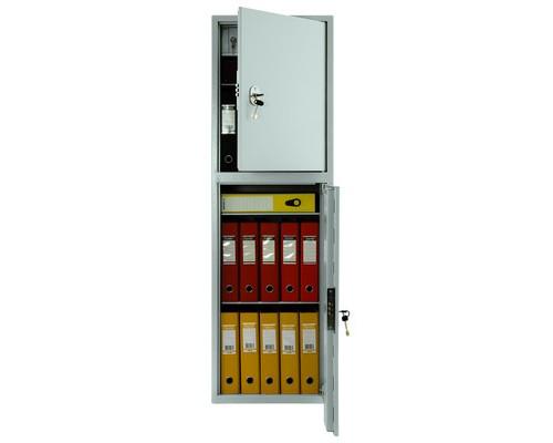 Шкаф бухгалтерский металлический Практик SL-150/2T 2 отделения трейзер 460x340x1490 мм - (98556К)