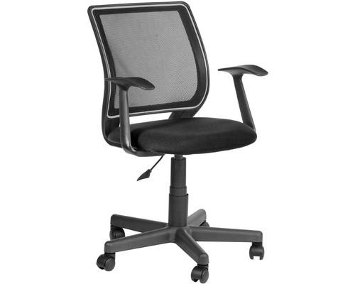 Кресло офисное Эксперт черное ткань/сетка/пластик - (487397К)
