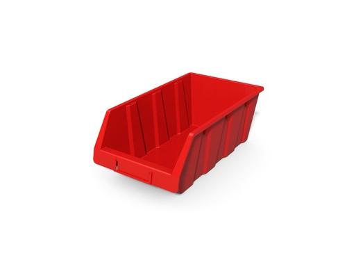 Ящик пластиковый ДиКом серия А красный 230x400x150 мм 4 штуки в упаковке - (524175К)