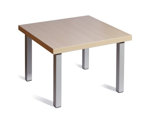 Стол журнальный Триада выбеленный дуб-алюминий 600x600x430 мм - (241484К)