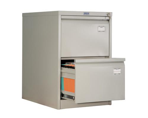 Шкаф картотечный металлический Практик AFC-02 для документов А4 2 отделения, 470x630x713 мм - (31571К)
