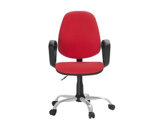 Кресло офисное Easy Chair 222 красное ткань/пластик/металл - (622255К)