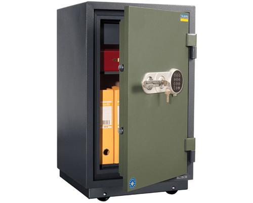 Сейф огнестойкий Valberg FRS-80 TEL с трейзером ключевой и электронный замки - (178989К)