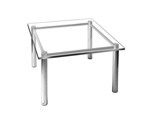 Стол журнальный Гранд 2М гальванический хром/стекло - (435612К)