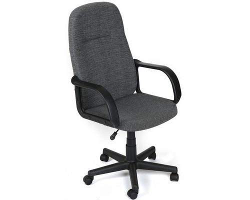 Кресло для руководителя Leader серое ткань/пластик - (418885К)