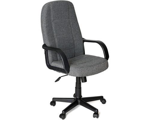 Кресло для руководителя 747 серое ткань/пластик - (124680К)