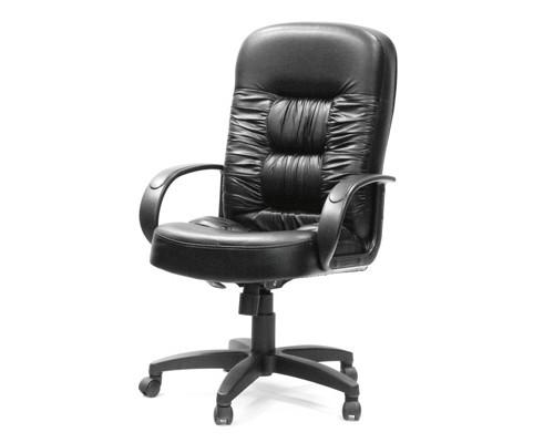 Кресло для руководителя Chairman 416 черное экокожа/пластик - (98668К)
